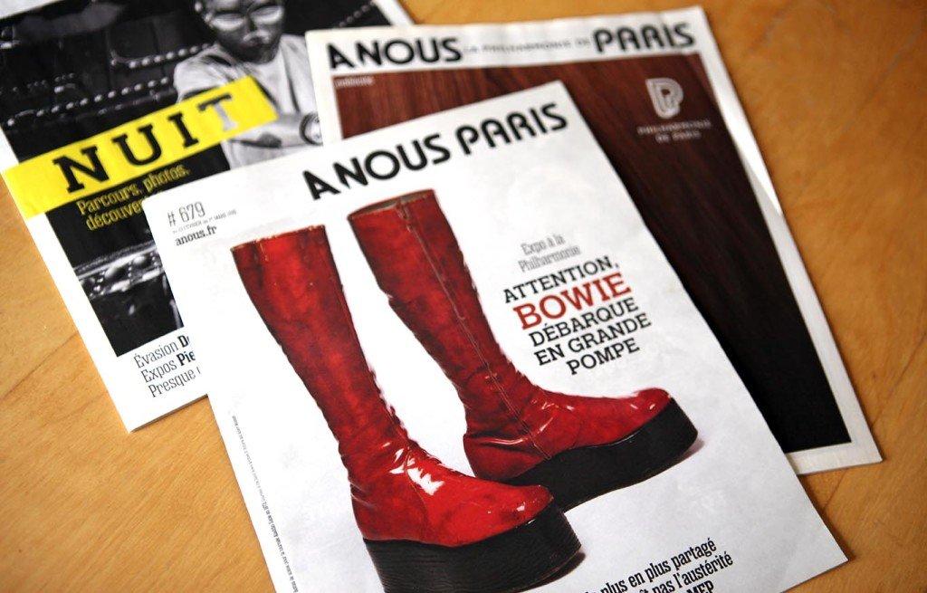 création magazine A Nous Paris Graphiste