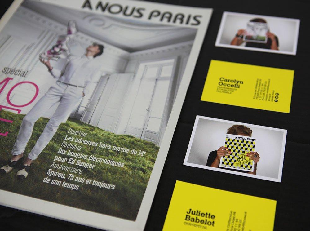 cartes de visite A Nous Paris